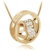 สร้อยคอรูปหัวใจพร้อมวงแหวน Style เกาหลี