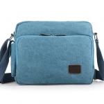 พร้อมส่ง กระเป๋าผ้าสะพายข้าง แบบพกพาสะบายๆ ช่องเก็บของเพียบ แฟชั่นเกาหลี Fashion bag รหัส G-684 สีฟ้า