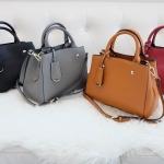 กระเป๋าแฟชั่น Amory mini work tote หนังแท้ 100% มี 4 สี ดำ เทา น้ำตาล แดง