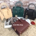 กระเป๋าแฟชั่น CHARLES & KEITH MINI CITY BAG มี 4 สี ดำ, แดง, เบจ, เขียว
