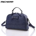 พร้อมส่งกระเป๋าถือและสะพายแฟชั่นเกาหลี ยี่ห้อ MICHERR แท้ รหัส AL-8822 สีน้ำเงิน