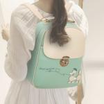 พร้อมส่ง กระเป๋าเป้สะพายหลัง ผู้หญิง แฟชั่นเกาหลี Sunny-618 แท้ สีเขียวมิ้นต์
