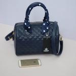 กระเป๋าแฟชั่น แบรนด์ KEEP รุ่น quited leather Pillow bag สี navy blue