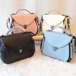 กระเป๋าแฟชั่น หนังแท้ Amory mini bag with metal มี 4 สี ดำ ชมพู ขาว ฟ้า