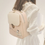 พร้อมส่ง กระเป๋าเป้สะพายหลัง ผู้หญิง แฟชั่นเกาหลี Sunny-618 แท้ สีชมพูอ่อน