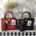 กระเป๋า KEEP saffiano office hand bag มี 6 สี ดำ เทา แดง ทอง เงิน โอรส