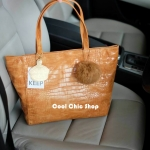 กระเป๋าแฟชั่น Keep croco classic tote bag