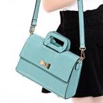 พร้อมส่ง กระเป๋าแฟชั่นเกาหลี รหัส Axixi-11090 แท้ สีฟ้าไอน้ำ