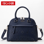 พร้อมส่ง กระเป๋าถือและสะพายข้างแฟชั่นเกาหลี Axixi-11914 แท้ สีน้ำเงิน
