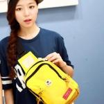 พร้อมส่ง กระเป๋าผ้า คาดไหล่ คาดอก ใช้ได้ทั้งผู้หญิง-ผู้ชายวัยรุ่น นักเรียน แฟชั่นเกาหลี รหัส NA-703 สีเหลือง