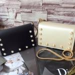 กระเป๋าแฟชั่น CHARLES & KEITH STUDDED CROSSBODY มี 2 สี ดำ ขาวมุก