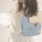 พร้อมส่ง กระเป๋าเป้สะพายหลัง ผู้หญิง แฟชั่นเกาหลี Sunny-618 แท้ สีฟ้าคราม