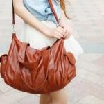 พร้อมส่ง กระเป๋าสะพายไหล่ แฟชั่นเกาหลี Fashion bag รหัส T-105 สีน้ำตาลอ่อน
