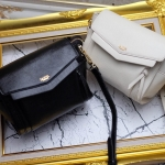 กระเป๋าแฟชั่น แบรนด์ Sanya รุ่น classic gold ขนาด 8 นิ้ว มี 2 สี ดำ ครีม