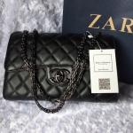กระเป๋าแฟชั่น แบรนด์ ZARA สีดำ สายโซ่