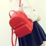 พร้อมส่ง กระเป๋าเป้สะพายหลังใบเล็ก ผู้หญิงแฟชั่นเกาหลี TIANCAI รหัส B-113 สีแดง