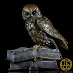 รูปปั้นสัมฤทธิ์ - นกฮูกหนังสือ (Sculpture Bronze Owl on Book - Pre Order)