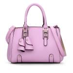พร้อมส่ง กระเป๋าถือและสะพายข้าง กระเป๋าหรูคุณนายแฟชั่นเกาหลี Sunny-682 แท้ สีชมพูอ่อน