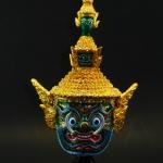 หัวโขนเรซิ่น - ทศกัณฐ์ (Ramakien Giant Thotsakan Khon Mask Size.M)