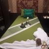 ผ้าปูเตียงสปา สีเขียว