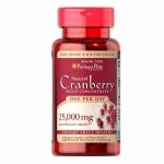 แครนเบอร์รี่ วิตามินป้องกันกระเพาะปัสสาวะอักเสบ Cranberry Puritan's Pride 25,000 mg/120tab