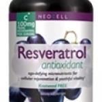 Resveratrol 100mg / 150 capsules สารสกัดจากองุ่นแดง ต้านอนุมูลอิสระ บำรุงสมอง