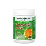 Healthy Care Chewable Vitamin C 500 tab วิตามินซีชนิดเคี้ยว รสส้ม 500 เม็ด