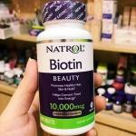วิตามินบำรุงผมไบโอติน Natrol Biotin 10,000 mcg
