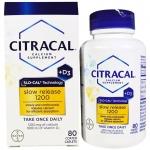 แคลเซียมเกรดพรีเมี่ยม CITRACAL+ D3 1200 mg