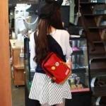 พร้อมส่ง กระเป๋าผ้า คาดไหล่ คาดอก ใช้ได้ทั้งผู้หญิง-ผู้ชายวัยรุ่น นักเรียน แฟชั่นเกาหลี รหัส NA-703 สีแดง